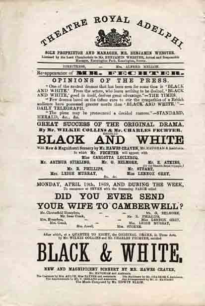 Black and White by Wilkie Collins and Charles Fechter.