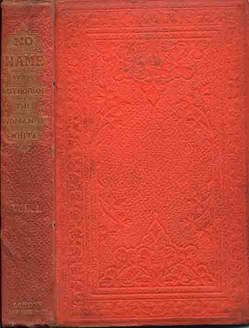 No Name by Wilkie Collins - first edition in orange cloth.