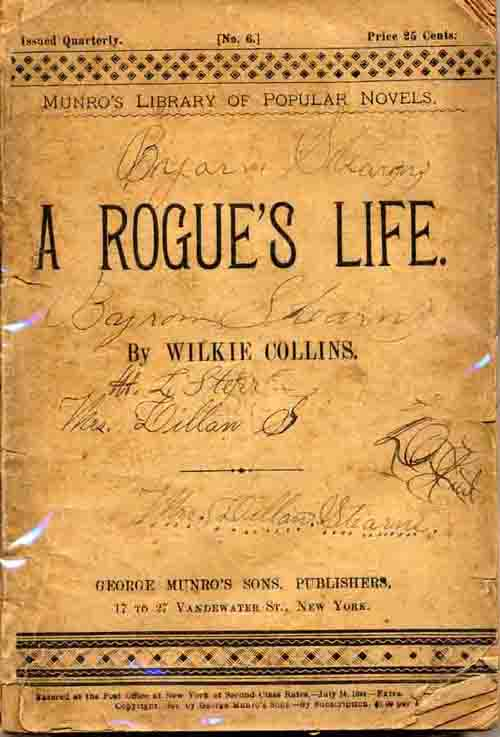 A Rogue's Life in Munro's Library of Popular Novels.