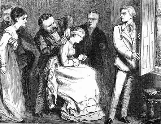 Illustration from the Chatto & Windus 1875 Piccadilly Novels edition of Poor Miss Finch.