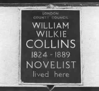 Wilkie Collins's Blue Plaque in Gloucester Place