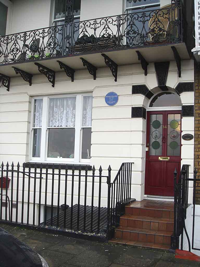 14 Nelson Crescent where Wilkie Collins stayed