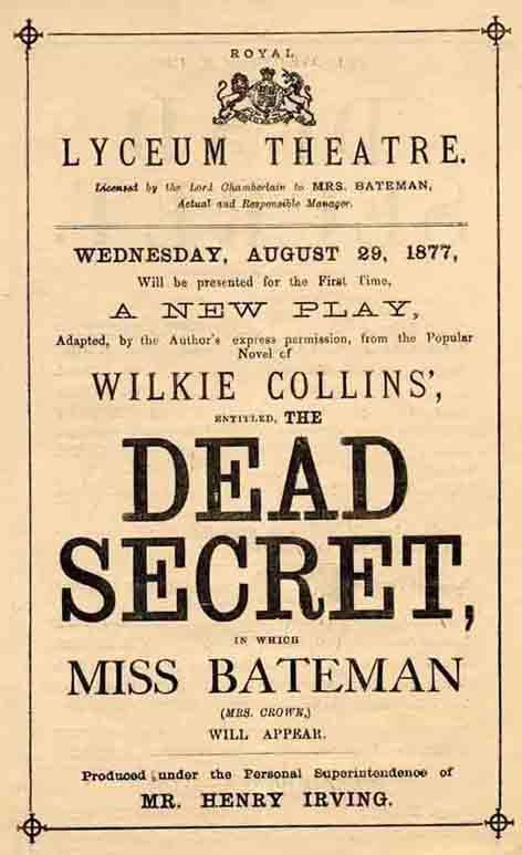 The Dead Secret at the Lyceum Theatre.