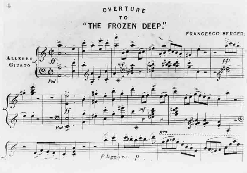 Francesco Berger's overture to The Frozen Deep