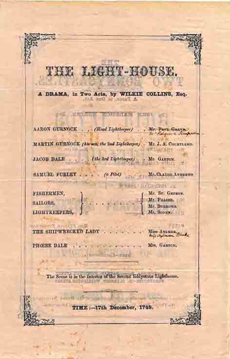 The Lighthouse - amateur theatrical version in 1865.