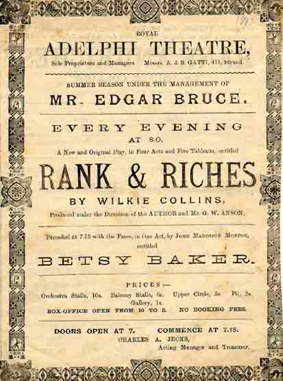 Rank and Riches at the Adelphi Theatre.