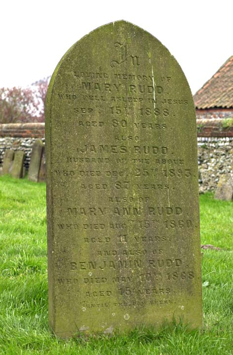 Gravestone of Martha Rudd's Parents