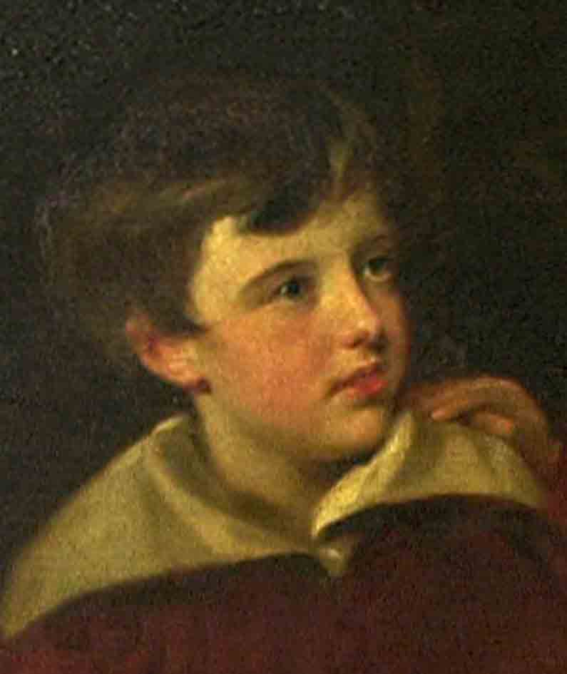 Wilkie Collins aged 9 - portrait by Andrew Geddes