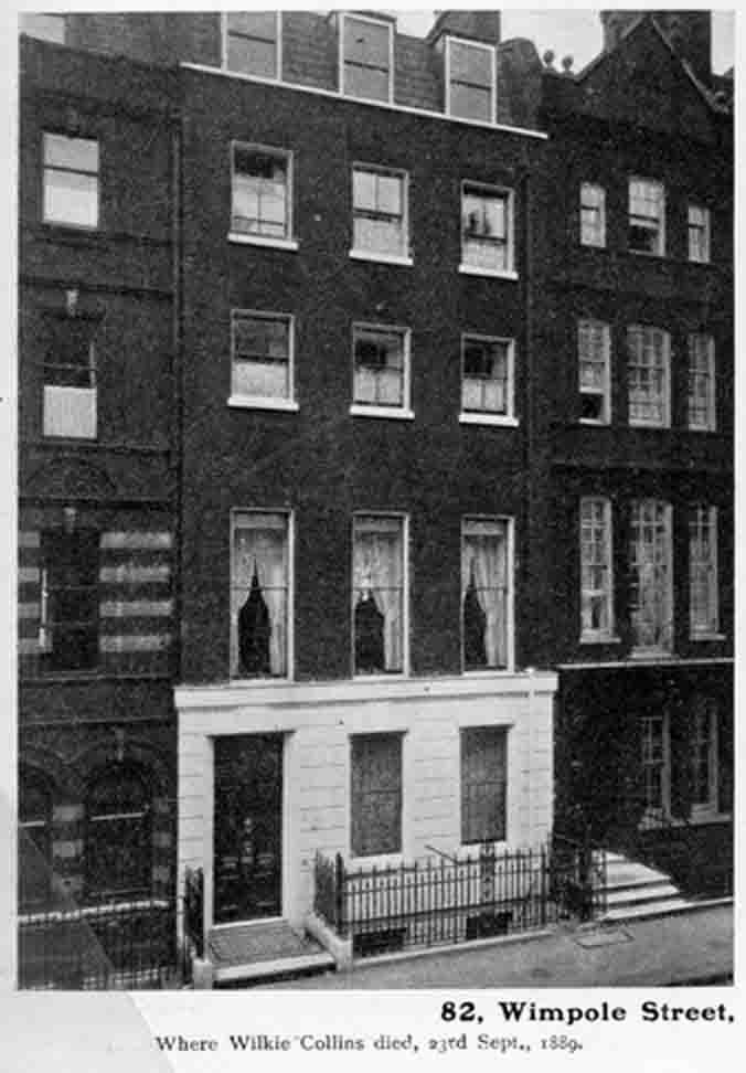 Wilkie Collins's home in Wimpole Street